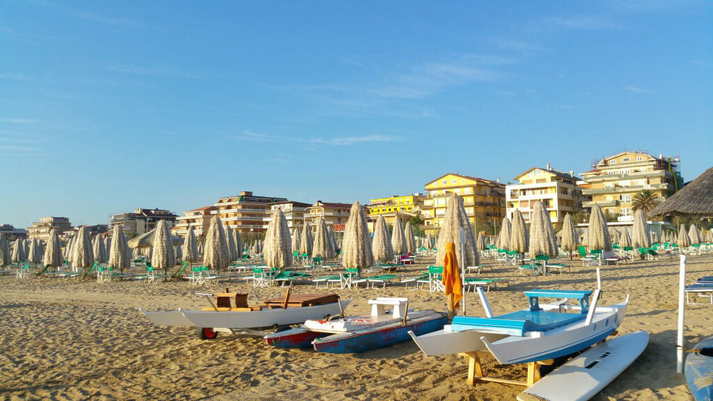 view of Abruzzo seaside on a tour travel by Vincenzo