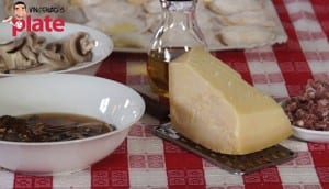Ravioli with Cream Porcini Mushrooms and Sausage