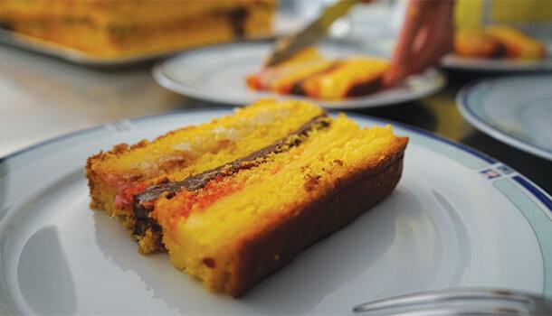 layered sponge cake pizza dolce abruzzese