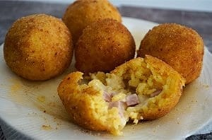 arancini ham and cheese