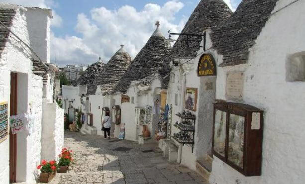 Alberobello small town situated in the region of Puglia Italia