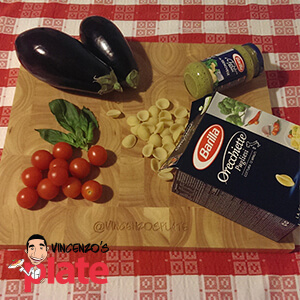 Barilla pasta ingredients on a kitchen table