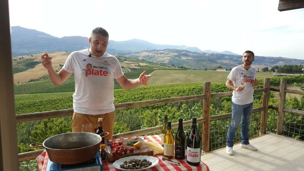 Vincenzo preparing Italian food at Italian countryside