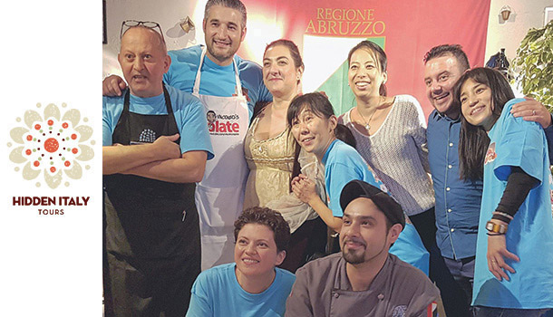 Vincenzos Plate kitchen staff in Italy Abruzzo