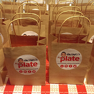 Vincenzos Plate promotional bags