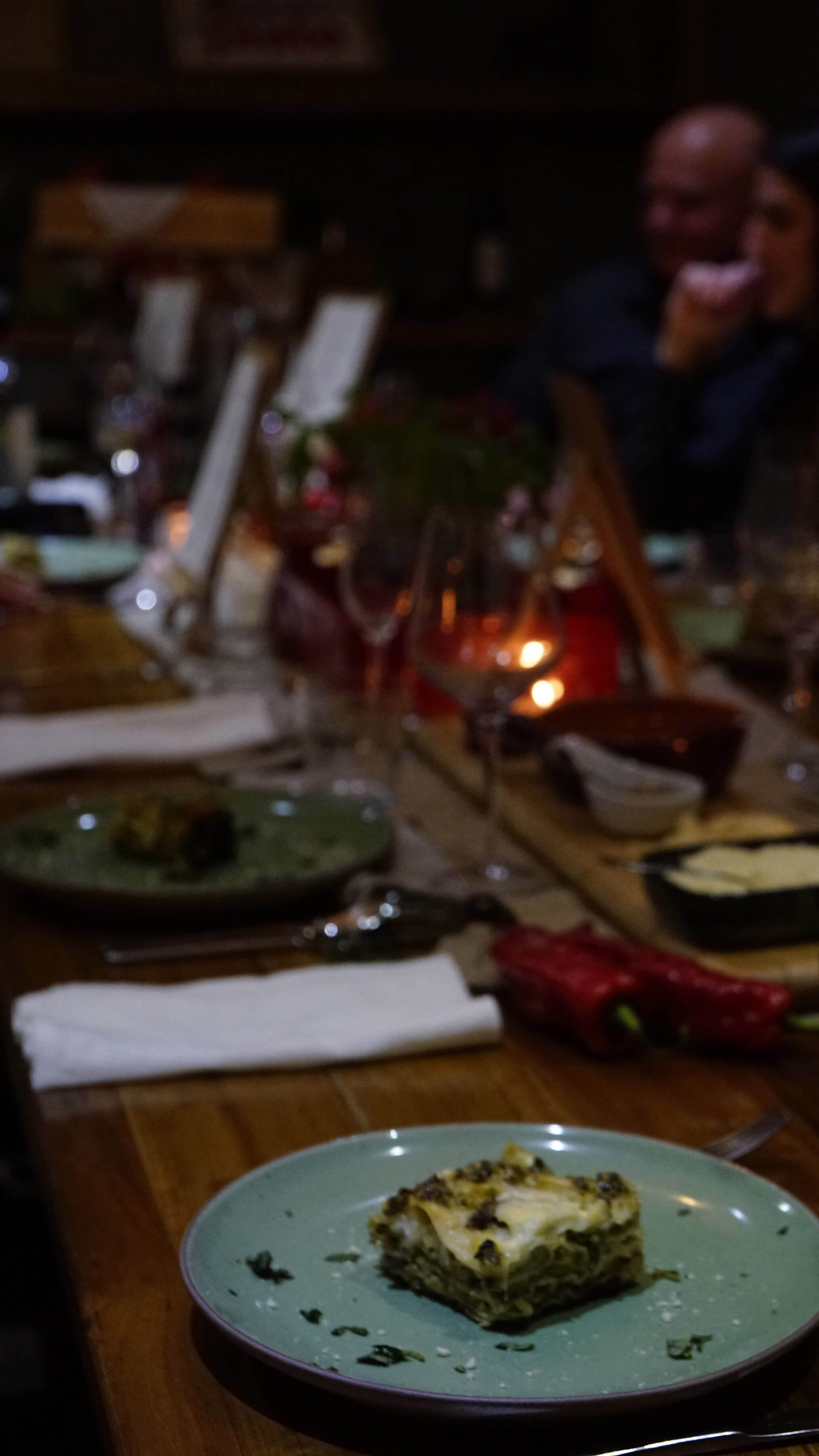 decorated food on dining table