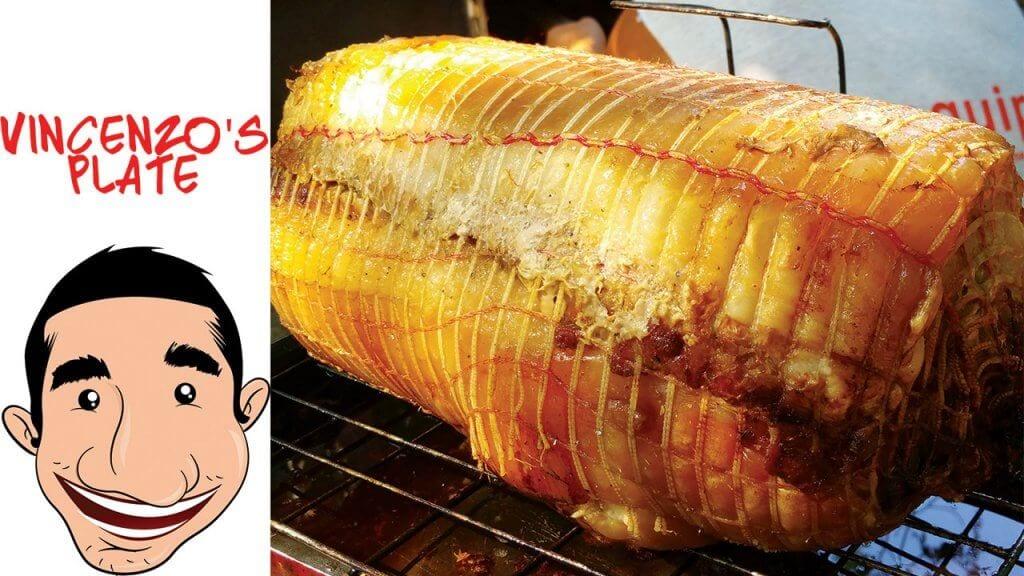 homemade porchetta roast pork by Vincenzos Plate