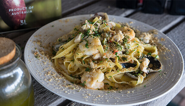 seafood pasta recipe cooked by chef Vincenzo