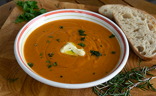 Butternut-Kürbis-Suppe