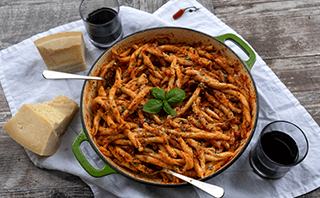 पास्ता arrabbiata मसालेदार