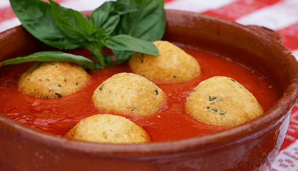 italian fried cheese balls