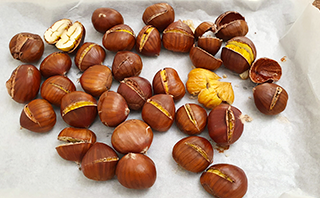 how to roast chestnuts in an oven