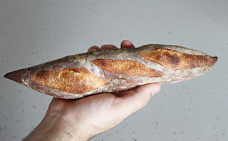 crusty french baguette