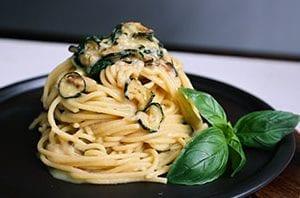fried zucchini pasta