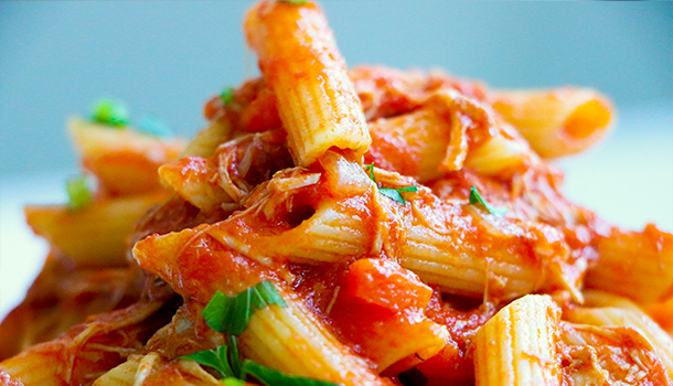 how to make chicken pasta at home
