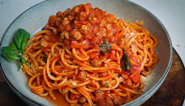 homemade spaghetti meatballs