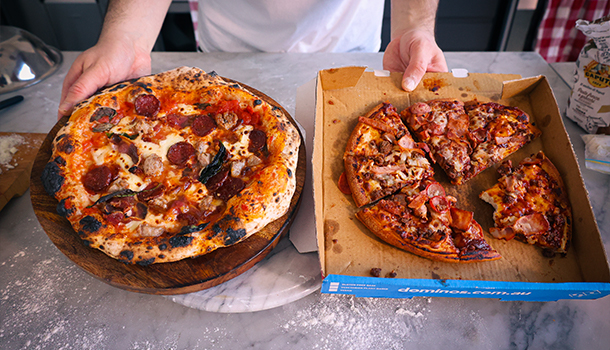 domino's meat lovers pizza