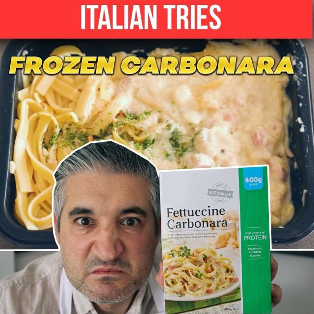 🔴New Video on YouTube: I Try FROZEN CARBONARA for the First Time😱🙈🥶 I am a huge fan of Spaghetti Carbonara when done the right way and I get upset when I see chefs destroying this amazing Roman Dish. I get more upset when I see restaurants and companies making money selling you a fake product like this one. 🤑  📺Watch the video now on Vincenzo's Plate @youtube Channel: youtube.com/vincenzosplate . . . #frozencarbonara #frozenfood #frozencarbonarasauce #carbonara #spaghetticarbonara #italianchef #chefreaction #tastetest #italiancheck #italiantastetest #carbonarataste #carbonaraforlife #vincenzosplate