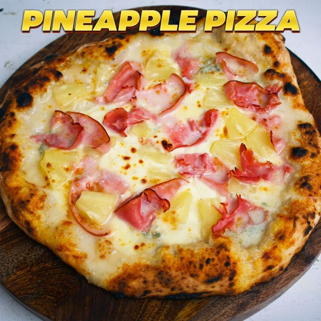 """PINEAPPLE PIZZA RECIPE 🍍 Pineapple on PIZZA? NOOOO!! What is even happening to me? 😱 No, I haven't been brainwashed (or kidnapped) BUT I have been challenged by SO many of you to eat pineapple on my #pizza so I have given in! Would you try it? 🤔  😋 Recipe: vincenzosplate.com (in the search type """"Pineaplle Pizza"""") - full video recipe also available on Facebook and YouTube . . . #pineapplepizza #pizzahawaiana #hawaiianpizza #pizzaconananas #ananaspizza #pizzarecipe #pineapplepizzarecipe #pineapple #ananas #italianpizza #italianrecipe #vincenzosplate"""