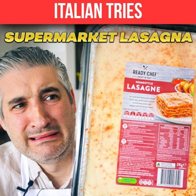 🔴New Video on YouTube:Italian Chef Try SUPERMARKET LASAGNE for the First Time 😱🛒🍽 Watch the full video on my #YouTube channel -> youtube.com/vincenzosplate . . . #readymeals #supermarketfood #supermarketlasagne #reactionvideo #italianchef #youtuber #frozenfood #frozenlasagna #italianrecipe #lasagnarecipe #vincenzosplate