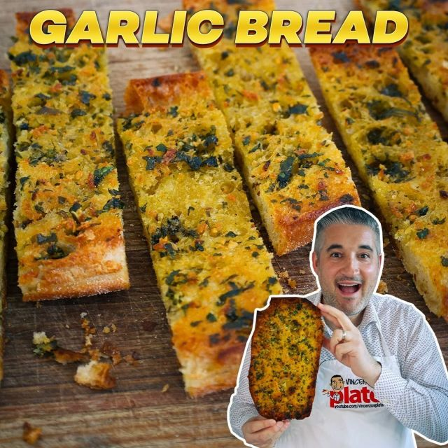 """🔴New Video on YouTube: GARLIC BREAD Like an Italian 🧄🍞 I just published this video on #YouTube! When you'll try this version, you will never go back to yours!  😋 Recipe: vincenzosplate.com (in the search type """"Garlic Bread"""") - full video recipe also available on Facebook and YouTube . . . #garlicbread #breadwithgarlic #aglioeolio #italiangarlicbread #garlicbreadrecipe #paneallaglio #aglio #bruschettarecipe #bruschettaaglioeolio #italianrecipe #vincenzosplate"""