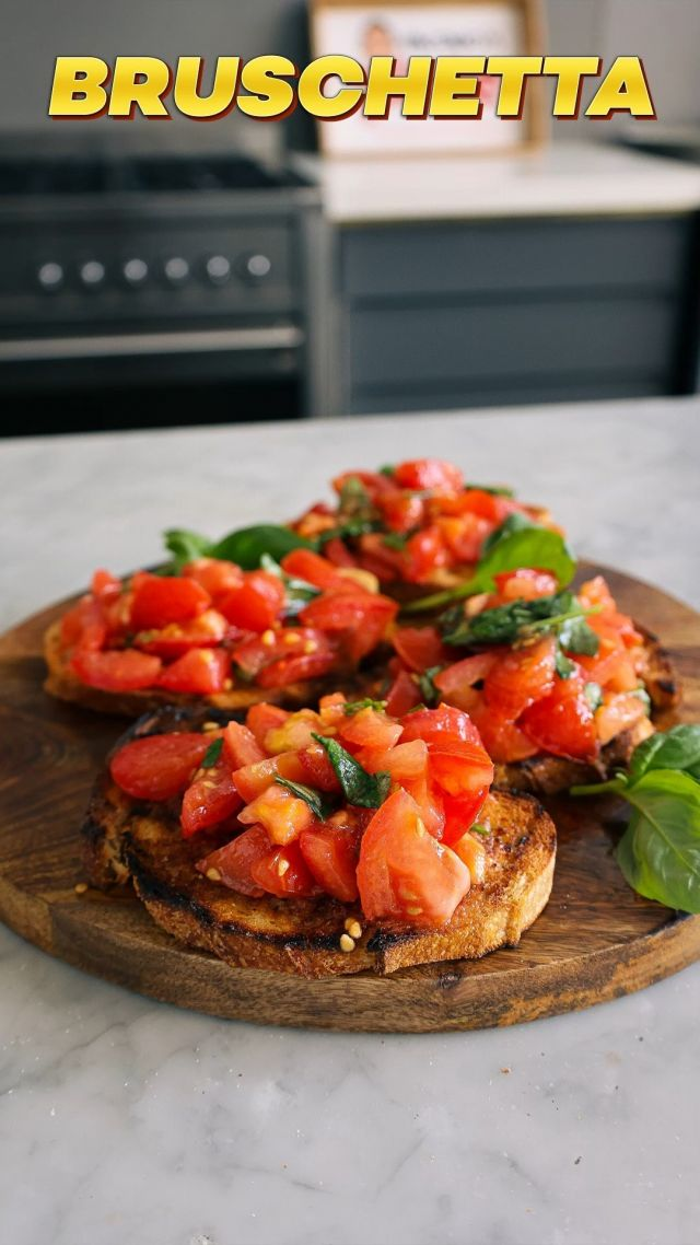 """ITALIAN BRUSCHETTA RECIPE. Italian #bruschetta is an absolute classic. My favourite part about this dish is the sensational flavour you get from the #tomato juice when using freshly grown or organic varieties. In Italian households, many foods are topped on oven-baked bread slices and served as an #antipasto…simple to prepare but rich in taste, my tomato bruschetta should be on repeat in your kitchens! 😋  😋 Recipe: vincenzosplate.com (in the search type """"Italian Bruschetta"""") - full video recipe also available on Facebook and YouTube . . . #italianbruschetta #bruschettarecipe #tomatobruschetta #italianrecipe #italiantomatoes #italianbruschetta #vincenzosplate"""